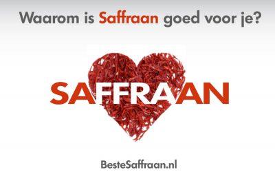 Waarom is Saffraan goed voor je?