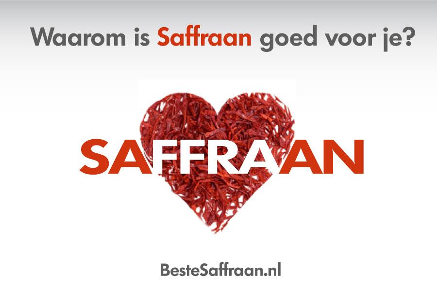 Waarom is saffraan goed voor je